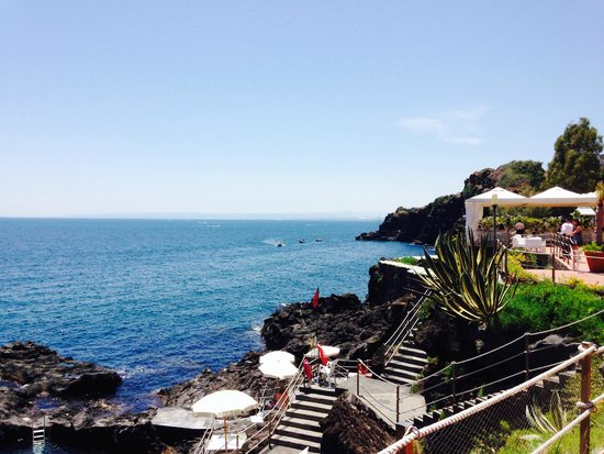Grand Hotel Baia Verde: nice view from the pool and beach side