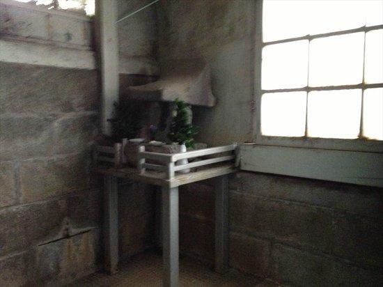 Iwashita Onsen Ryokan: 浴場の一角にある祠