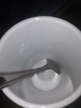 Milford Hall Hotel & Spa : Hair in cup (same as in bath?)