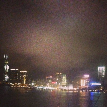 The Harbourview Hong Kong : Night view from room (harbour facing)
