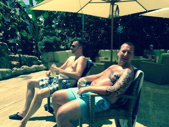 Presidente Hotel: By the pool bar