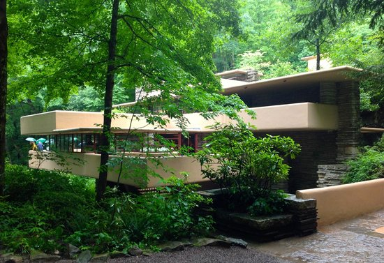 Fallingwater: View from across the bridge