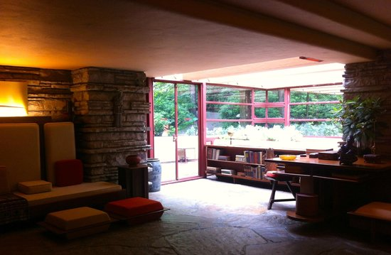 Fallingwater: The sitting room