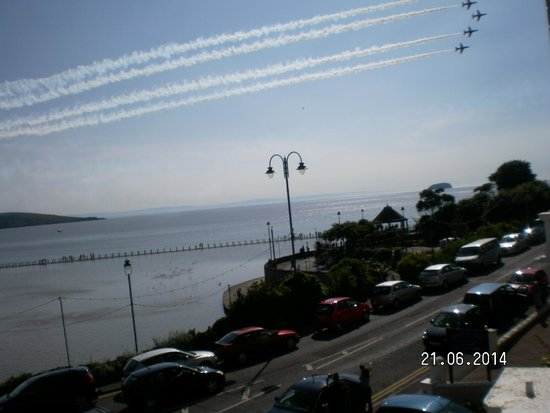 The New Ocean Hotel: Watching Red Arrows from balcony