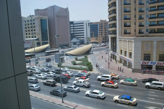 York International Hotel: Utsikt fra rommet