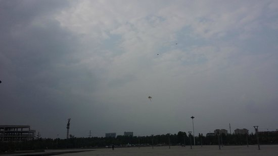 Weihe Park: Kite flying