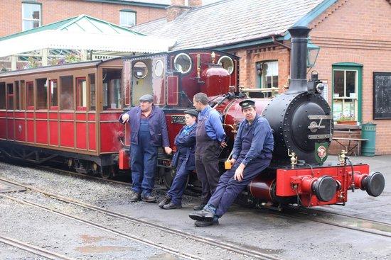 Talyllyn Railway: steam train and staff