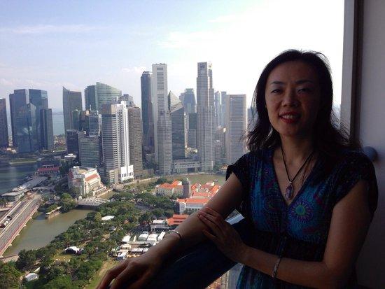 Swissotel The Stamford Singapore: 部屋からマリーナベイとシティを一望出来ます。