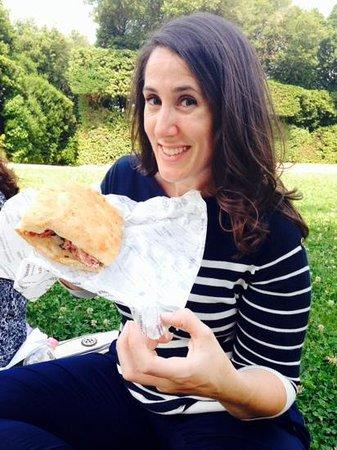 All' Antico Vinaio : Salami sandwich