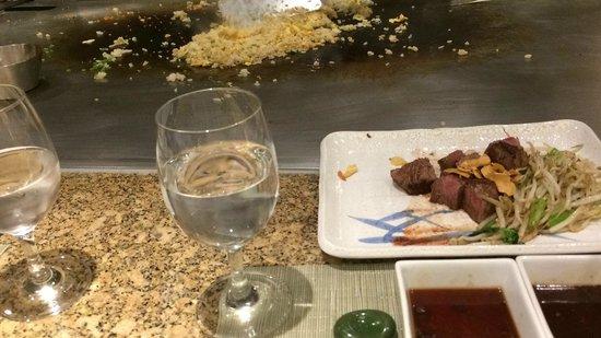 Teppanyaki Restaurant Sazanka: the meat was the highlight of the dinner