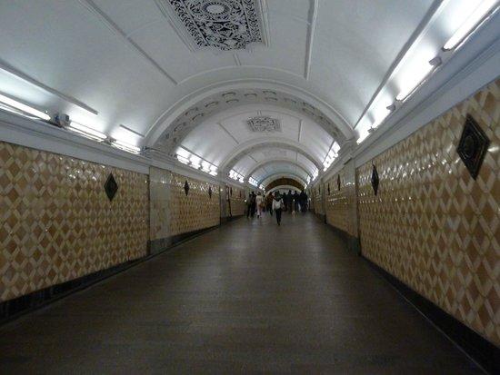 Metro Moskau: lots of walking sometimes