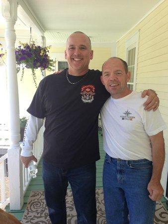 """Ballard House Inn : Mike & Brian..aka """"George"""" and """"Bob"""""""