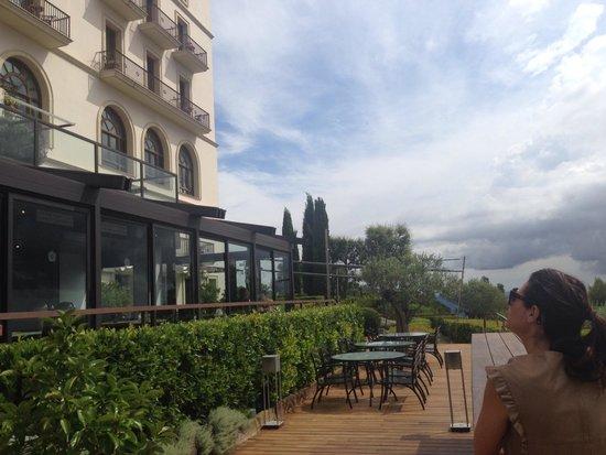 Gran Hotel La Florida: Terrasse restaurant