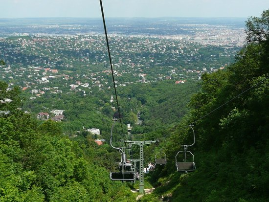 The Aquincum Hotel Budapest: The view of Budapest from the Libego chairlift