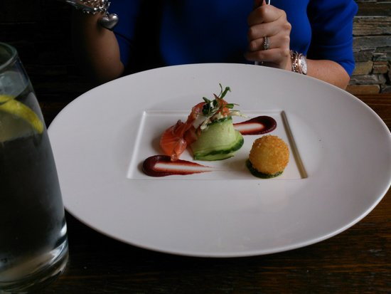 The Atelier Restaurant: smoked salmon starter