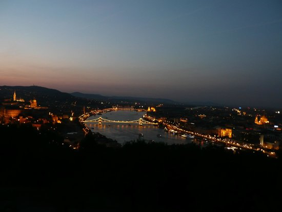 The Aquincum Hotel Budapest: The view of Budapest from the Gellert Hill