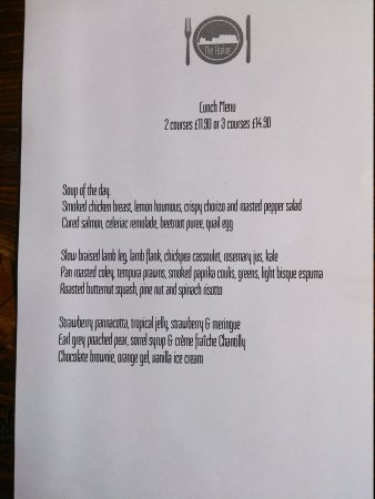 The Atelier Restaurant: great value lunch menu