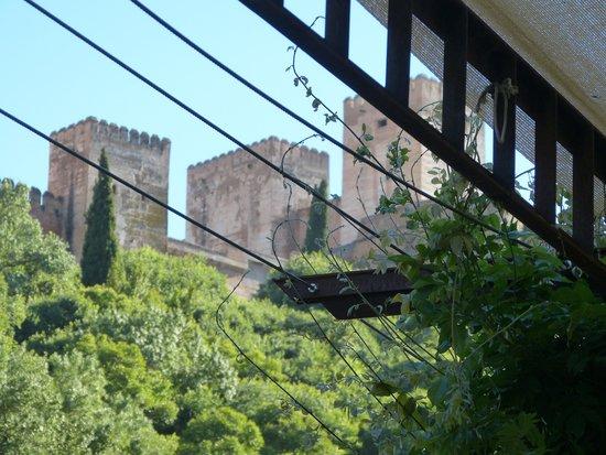 Alhambra dining from along Carrera del Darro
