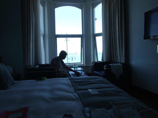 The Claremont Hotel: View of room 112 from door