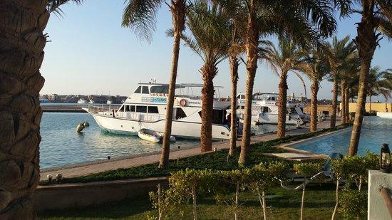 Marina Lodge at Port Ghalib: Hoteleigene Anlegestelle und Wassertaxi Anleger
