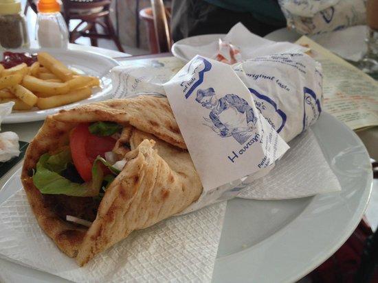 Grandma's Recipes: XL kebab... too much pitta, less meat.