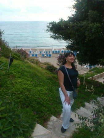 SENTIDO Thalassa Coral Bay: Лесенка к пляжу Coral Beach