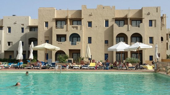 Marina Lodge at Port Ghalib : Vom Poolrand...