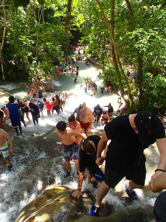 Dunn's River Falls and Park : Too crowded