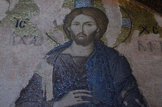 Kariye Museum (The Chora Church): Détail: remarquez l'éclat de la mosaïque