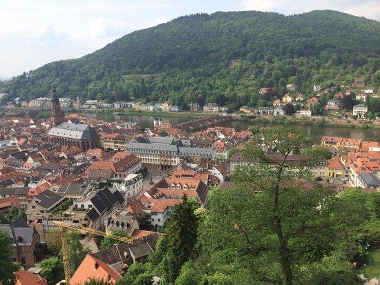Schloss Heidelberg: Вид с обзорной площадки замка