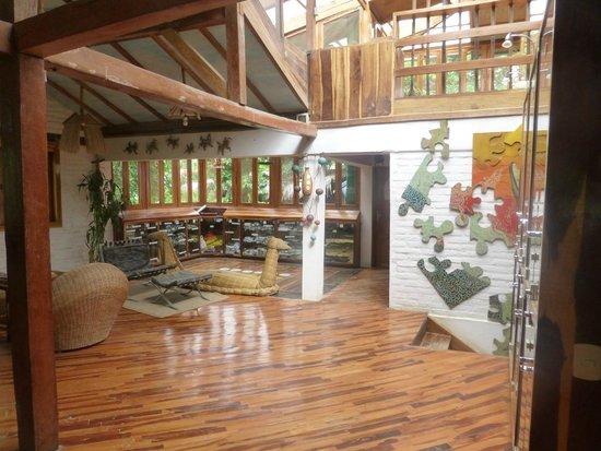 Hosteria Mandala: music room and library