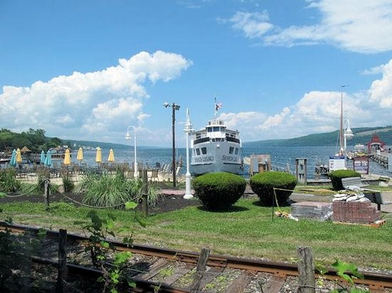 View from the window at Seneca Harbor Station