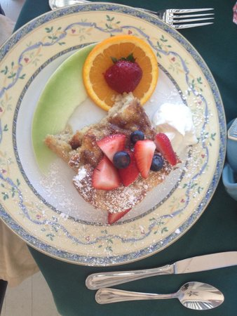 "Victorian Lace Inn: Cinnamon French toast...a great ""sweet"" breakfast!  They outdo themselves here; service is outst"