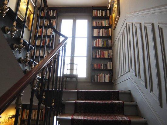 Hotel de la Porte Doree: the staircase