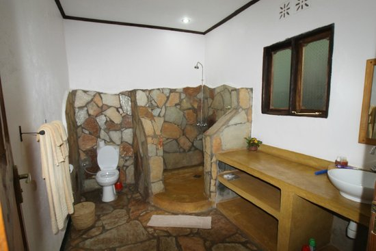 Country Lodge : Gorgeous stone shower