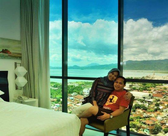 Hotel Novotel Lampung: Ocean-view Superior Room panorama window