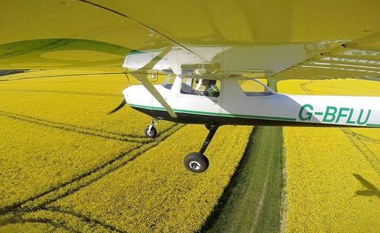 Elstree, UK: Flying over Rapeseed Fields in  April & May