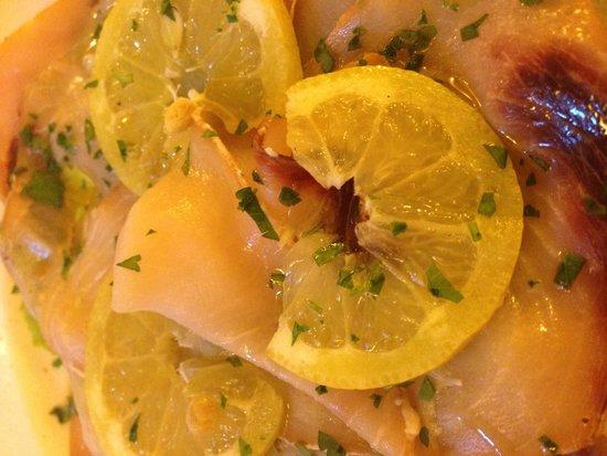 Osteria del Conte: Swordfish carpaccio