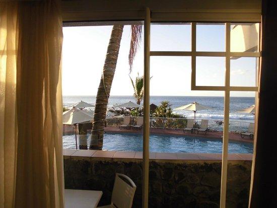 Hotel Boucan Canot: vu chambre RDC