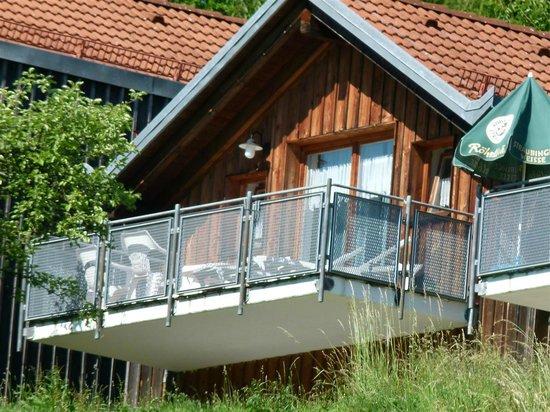 Hotel Bayerischer Wald: unser Balkon im 1.OG Westseite..hammermäßig