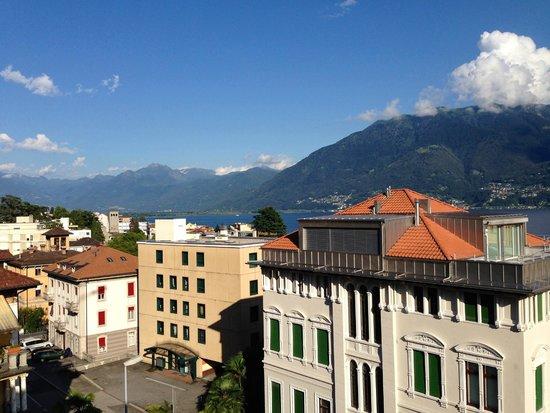 Hotel Garni Muralto: View from room, 4th floor