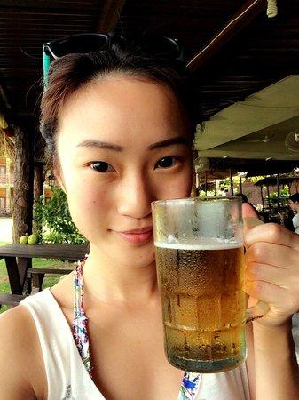 Bintan Spa Villa Beach Resort: me and my beer!