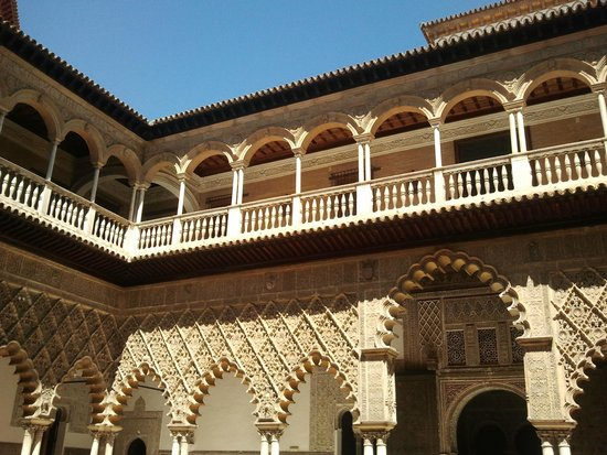 Real Alcázar: Courtyard of the Maidens, Alcazar Palace, Sevilla