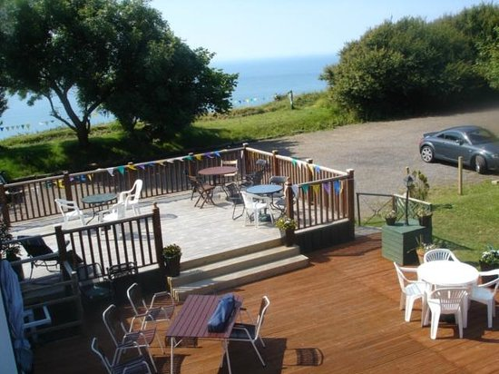 The Lighthouse Inn: View from bedroom window, eyes left