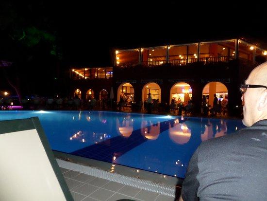 Sensimar Marmaris Imperial: The activity pool at night
