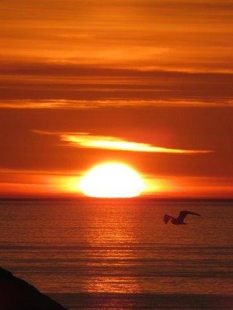 Gabriel House: coucher de soleil vu depuis la chambre Cabin :-)