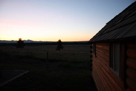 Yellowstone Park KOA: sunrise looking east from our cabin