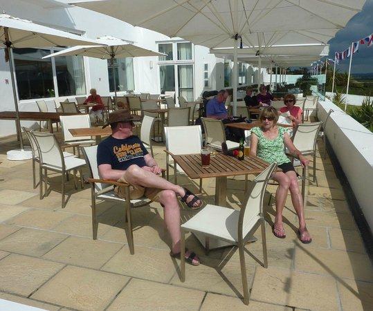 Saunton Sands Hotel: The hotel's terrace