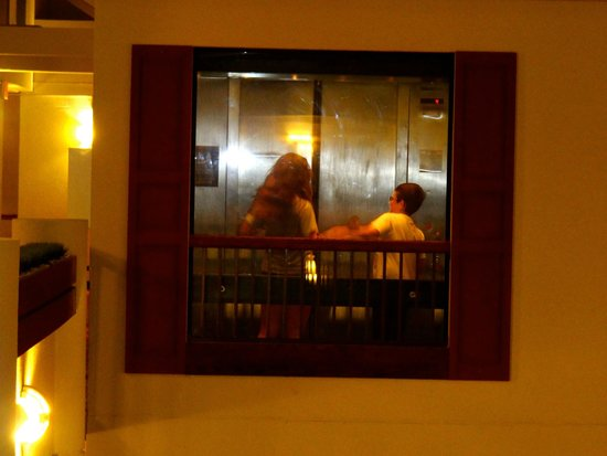 Hilton Garden Inn San Antonio Airport : My kids fighting in the elevator