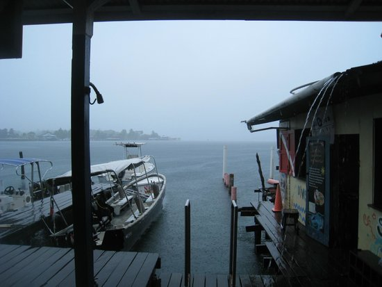 La Buga Dive Center & Surf School: View from the dive shop during a storm
